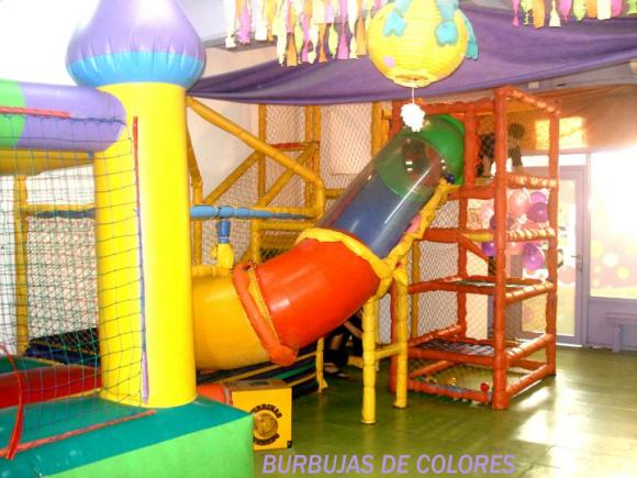 Salon burbujas de colores fiestas infantiles for K boom salon de fiestas