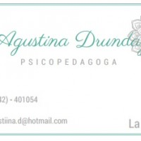 Psicopedagoga Drunday, Agustina.