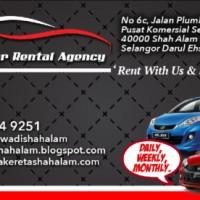 Kereta Sewa Shah Alam - Sf Car Rental Agency