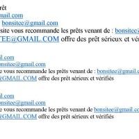 Offre de prêt rapide pour vos projet urgent !!!