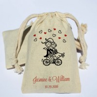 Cotton Muslin Bag Cotton Pouch Favor Bag Wedding Bags