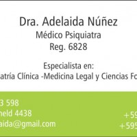Dra Adelaida Nuñez .Medico Psiquiatra