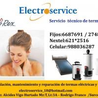 988036287 servicio técnico de termas CALOREX mantenimiento reparacion