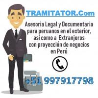 TRAMITATOR ABOGADOS Tramites a Perú - Apostilla y Legalizaciones de documentos en Perú - Envio de documentos certificados a Nivel Internacional