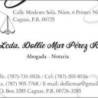 Abogados - Notarios - Lcda. Dollie Mar Pérez Ramos