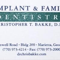 Dr. Christopher T. Bakke DMD